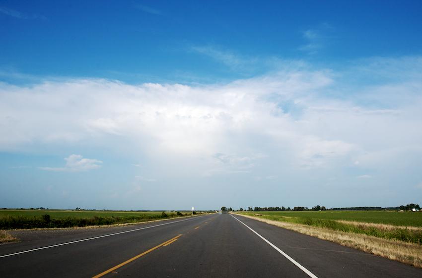 Straight road is straight